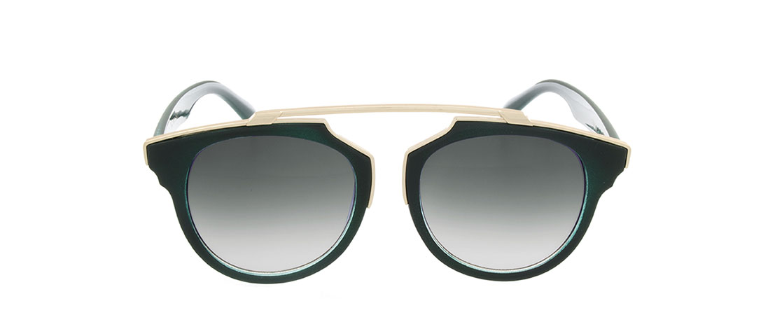 Forest Green Frame, Gray Gradient Lens