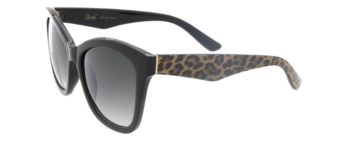 Black w/Animal Print Arms, Gray Gradient Lens red