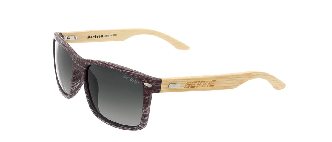 Wood/Bamboo Frame,Gray Gradient Lens