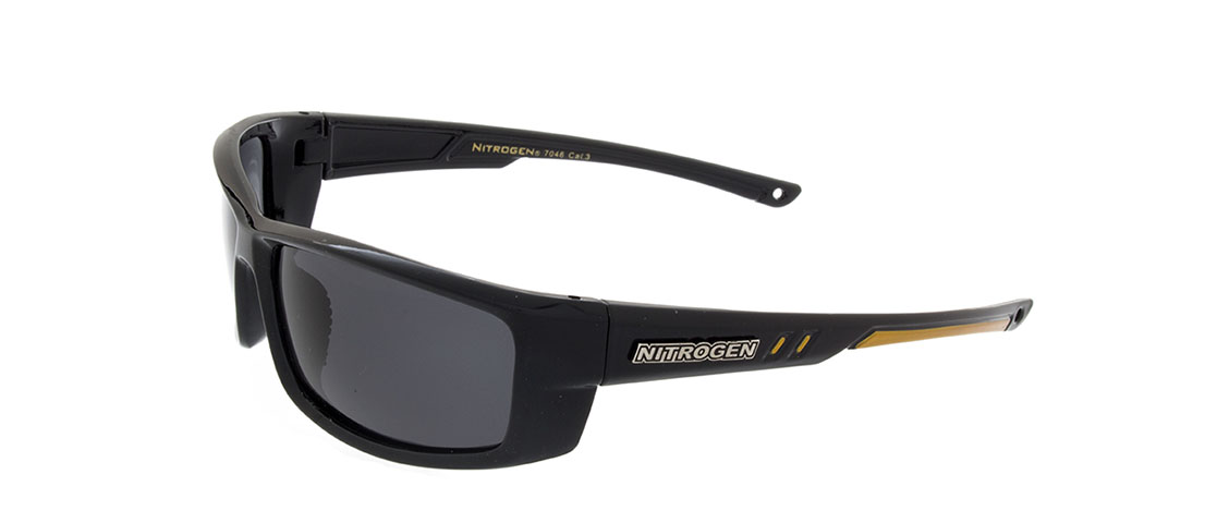 Black w/Gold Accent Frame,Smoke Gray Lens