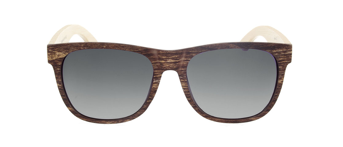 Faux Wood Frame w/Bamboo Arms, Gray Gradient Lens