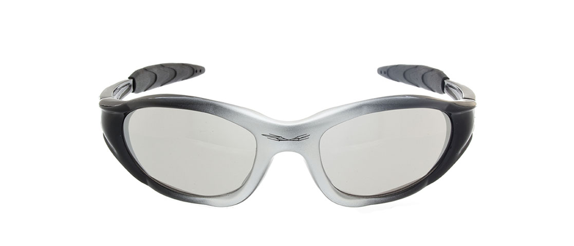 Black and Silver Frame, Silver Lens