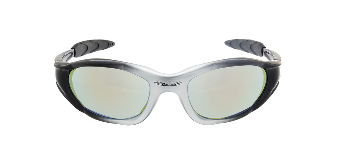 Black and Silver Frame, Yellow Mirror Lens