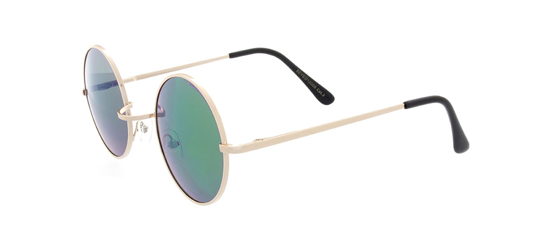 Gold Frame, Turquoise Mirror Lens