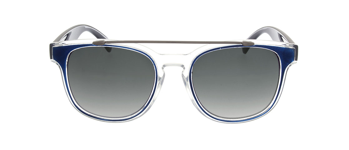 Blue/Translucent Frame, Gray Gradient Lens