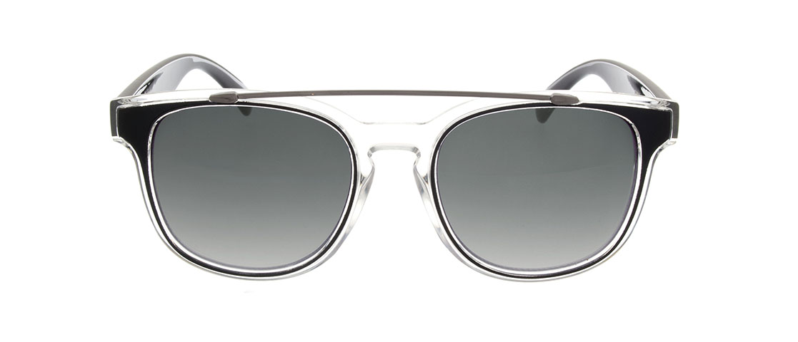 Black/Translucent Frame, Gray Gradient Lens