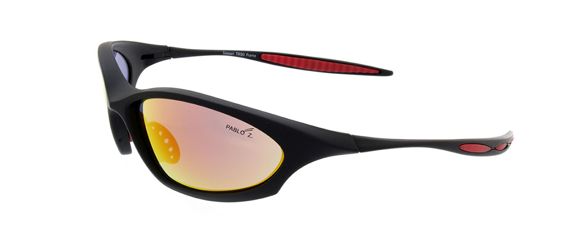 Black w/Red accent Frames, Gold Metallic Lens