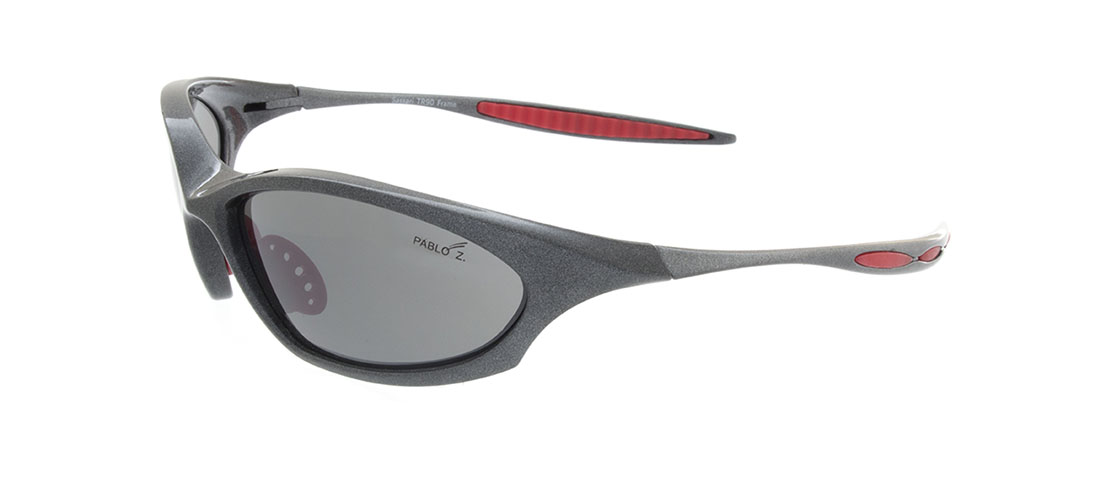 Gray w/Red accent Frames, Gray Lens