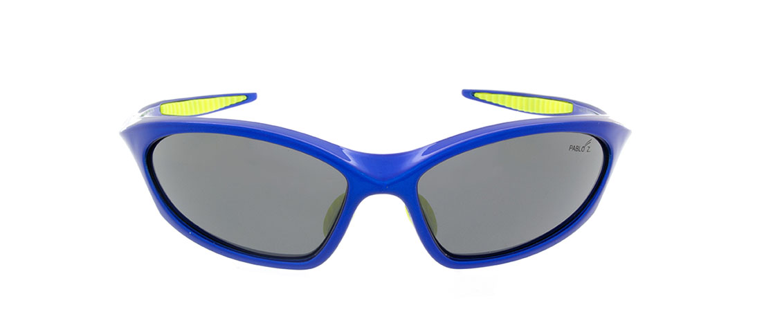 Blue w/Yellow accent Frames, Gray Lens