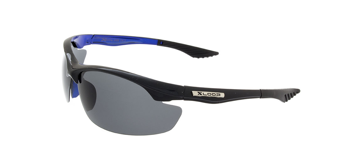 Black/Blue Frame,Smoke Gray Lens