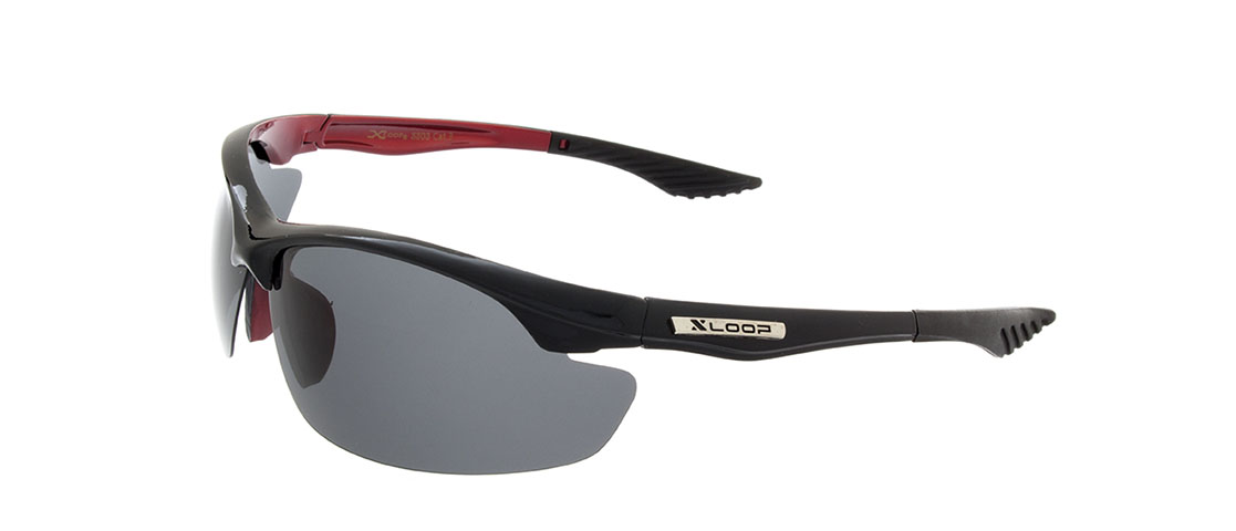 Black/Red Frame,Smoke Gray Lens